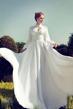 nurit hen wedding dresses 2013 long sleeve bolero