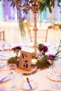 Rustic Chic Table Decor and Table Number
