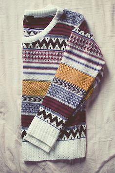 Multi priny sweater