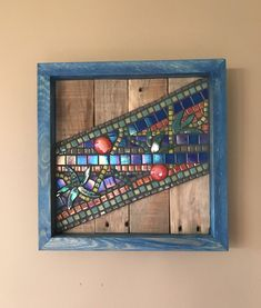 The latest addition to my #etsy shop: Mosaic wall hanging, Reclaimed Pallet Wood #mixedmedia #wallhanging #wallart #mosaic #reclaimed