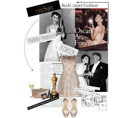 Oscars Fashion Flashback: Audrey Hepburn, created by hello-barbie on Polyvore