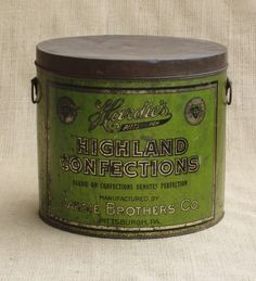 Confections Tin by VintageChicTradingCo on Etsy,