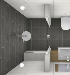 This walk-in shower is a nice solution for a shower in the small bathroom. Bathroom Spa, Bathroom Toilets, Modern Bathroom, Small Toilet Room, Guest Toilet, Small White Bathrooms, Small Bathroom, Bad Inspiration, Bathroom Inspiration