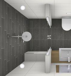 Deze inloopdouche is een mooie oplossing voor een douche in de kleine badkamer. Het inloopgedeelte wordt door een douchedeur gescheiden van de rest van de badkamer. Hierdoor blijft de rest van de badkamer droog wanneer de douche aanstaat. Het inloopgedeelte en de regendouche geven de totale opstelling een strakke en[...]