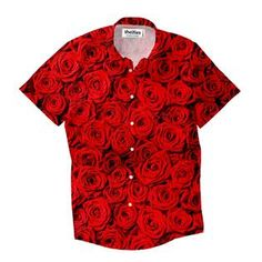 Roses Invasion Short-Sleeve Button Down Shirt by Shelfies Button Shirts, Button Down Shirt, How To Fall Asleep, Button Downs, Trail, Men Casual, Candles, Mens Tops, How To Wear