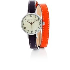 TOKYObay Purple and Red Dopio Double Wrap Watch ($120) found on Polyvore
