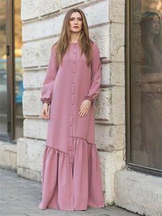 Abaya Fashion, Muslim Fashion, Women's Fashion Dresses, Abaya Designs Latest, Hijab Style Dress, Mode Abaya, Embroidery Suits Design, Beautiful Gowns, African Fashion