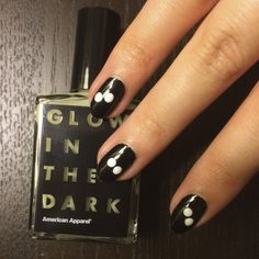 Pin for Later: DIY Your Own Googly Glow-in-the-Dark Halloween Nail Art Step 2