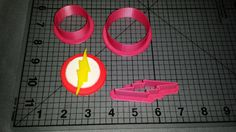 The Flash Logo Cookie Cutter by JBCookieCutters on Etsy, $5.50
