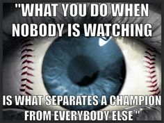 So true it's like the best things happen when nobody is watching