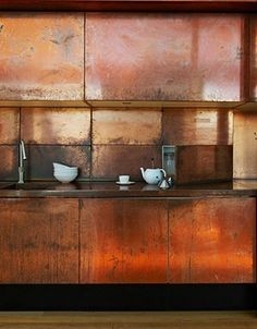 Industrial Materials For Your Interior - Copper Kitchen Unites, Worktops & Splashback