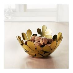 IKEA - STOCKHOLM, Bowl, brass color gold-colour, Fill the bowl with decorations or use it alone as a beautiful object in its own right. Soft feet stabilizes the bowl and protects the underlying surface. Ikea Stockholm, Mall Of America, Ikea Pinterest, Welcome To My House, Soft Feet, Dark Interiors, Brass Color, Gold Colour, Moving House