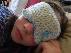 Free knitting pattern for Sleep Masks