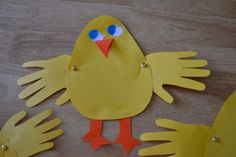 Mamas Like Me: Handprint Spring Chicks - Perfect for Easter!