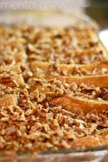 Paula Deen's French Toast Casserole with a Praline topping
