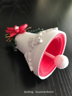 3D Quilling - Cloche de Noël en quilling - 03-2017