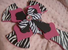 TOO CUTE Zebra Pink and Black Wood Cross by InspiredByVenice, $25.00