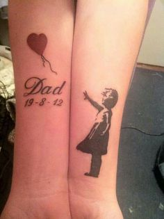 Dad red balloon girl tattoo