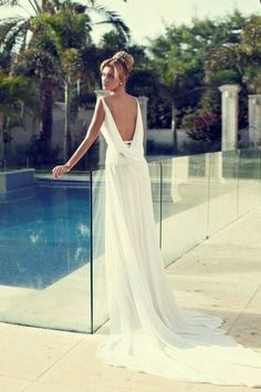 Ancient Greek Style Wedding Dress Love The Draping At The