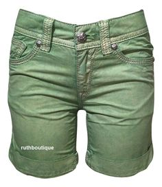 Rock Revival Size 27 Green Short RCW039-1 NWT Retail $89.95 #RockRevival #Shorts