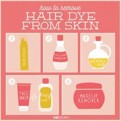 How to get hair dye off of your skin