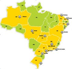 Cities of the World Cup in Brasil