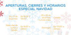 Aperturas, cierres y horarios especial #Navidad http://www.ocioscul.com/horario-navidad