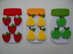 Felt garden counting page would be a hit with the girls.Birds in a tree quiet book page Diy Quiet Books, Baby Quiet Book, Felt Quiet Books, Hobbies And Crafts, Diy And Crafts, Crafts For Kids, Felt Games, Quiet Book Templates, Felt Patterns