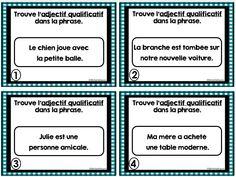 Adjectifs qualificatifs - ressource pour la salle de classe