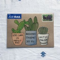 3 illustrated designs for making lovely mail