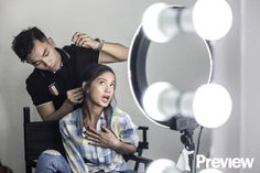 You Have to See Ylona Garcia Doing Wacky Faces During Our Cover Shoot Ylona Garcia, Bts Photo, Behind The Scenes, Faces, Cover, Check, Photos, Pictures, The Face