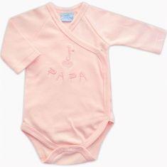 Body bébé fille en coton rose brodé J'aime Papa