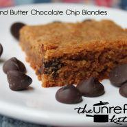 The Unrefined Kitchen -- Almond Butter Chocolate Chip Blondies