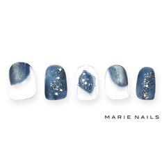 #マリーネイルズ #marienails #ネイルデザイン #かわいい #ネイル #kawaii #kyoto #ジェルネイル#trend #nail #toocute #pretty #nails #ファッション #naildesign #awsome #beautiful #nailart #tokyo #fashion #ootd #nailist #ネイリスト #ショートネイル #gelnails #instanails #marienails_hawaii #cool #blue #マグネットジェル