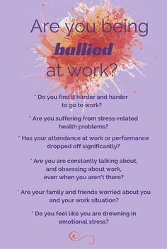 How do you know if you are being bullied at work? Click on this image to learn more.