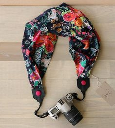 Flower Market Scarf Camera Strap by Bluebird Chic on Scoutmob Shoppe