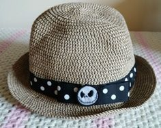 250f7b7a964 DISNEY PARKS Nightmare Before Christmas Straw hat slouchy Tim Burton  Halloween
