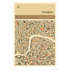LONDON MAP 50 x 70 print by Jazzberry Blue
