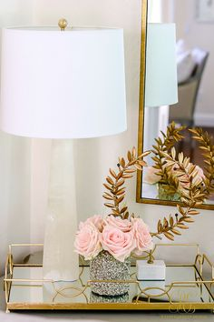 How to Create a Livable + Beautiful Family Room - Randi Garrett Design. Choose accessories with sentimental value. Tray with gold, white and blush! Yellow Home Accessories, Home Interior Accessories, Living Room Accessories, Accessories Online, Pet Accessories, Interior Design, Family Room Decorating, Family Room Design, Decorating Ideas