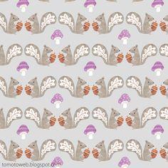 tomoto: Autumn Squirrel Pattern
