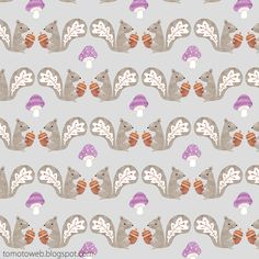 tomoto: Autumn Squirrel Pattern