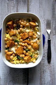lunchbox : sałatka z kaszą jaglaną i kurczakiem curry