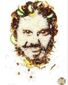 "A very creative Food Art  by the ""Rojak Projek"" #therojakprojek""  introducing Malaysian food (nasi lemak) creatively turned into a portrait of a man. Impressive!  #food #foodporn #foodie #foodart #malaysian #malaysianfood #portrait #portraits #instagram #instaart #imstagramers #artlover #creative #wow #awesome #wowsome #art #instawow #talentedpeopleinc #talent #interesting #nasilemak #sambal #telurrebus #ikanbilis #kacang #timun by senivisual_art"