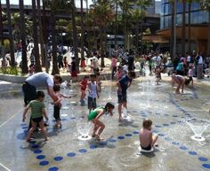 Darling Quarter - Water Play Area. Must visit if you're in Sydney Australia.