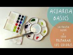 Tutorial ACUARELAS: como preparar los colores y las PALETAS mejores by ART Tv - YouTube
