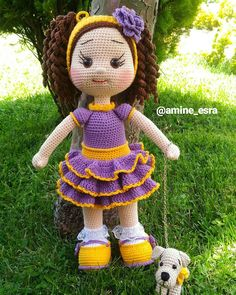 Gorgeous Amigurumi Dolls Love this sweet travelling doll crochet amigurumi pattern!As you know, I love amigurumi! And I'm so impressed by the lovely amigurumi doll patterns that are a Yazıyı Oku… Make your child your own toy … my the is Doll Dress Yarn Dolls, Knitted Dolls, Crochet Dolls, Crochet Doll Pattern, Crochet Patterns Amigurumi, Amigurumi Doll, Crochet Baby Toys, Cute Crochet, Crochet Geek