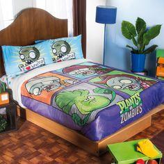 Súper Soft Digital con Borrega Plants vs Zombies  #Recamara #Niños #Cobertor…