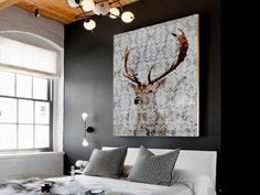 Stag+Wall+Art+and+Antler+Wall+Decor