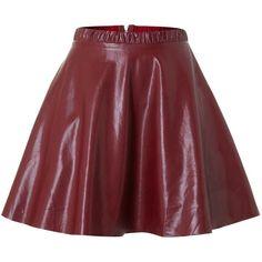 tfnc PU mini skirt ($12) ❤ liked on Polyvore featuring skirts, mini skirts, bottoms, red, pu skirt, red mini skirt, a-line skirt, red skirt and short a line skirt