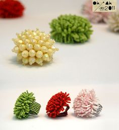 beaded coral ring images - Buscar con Google